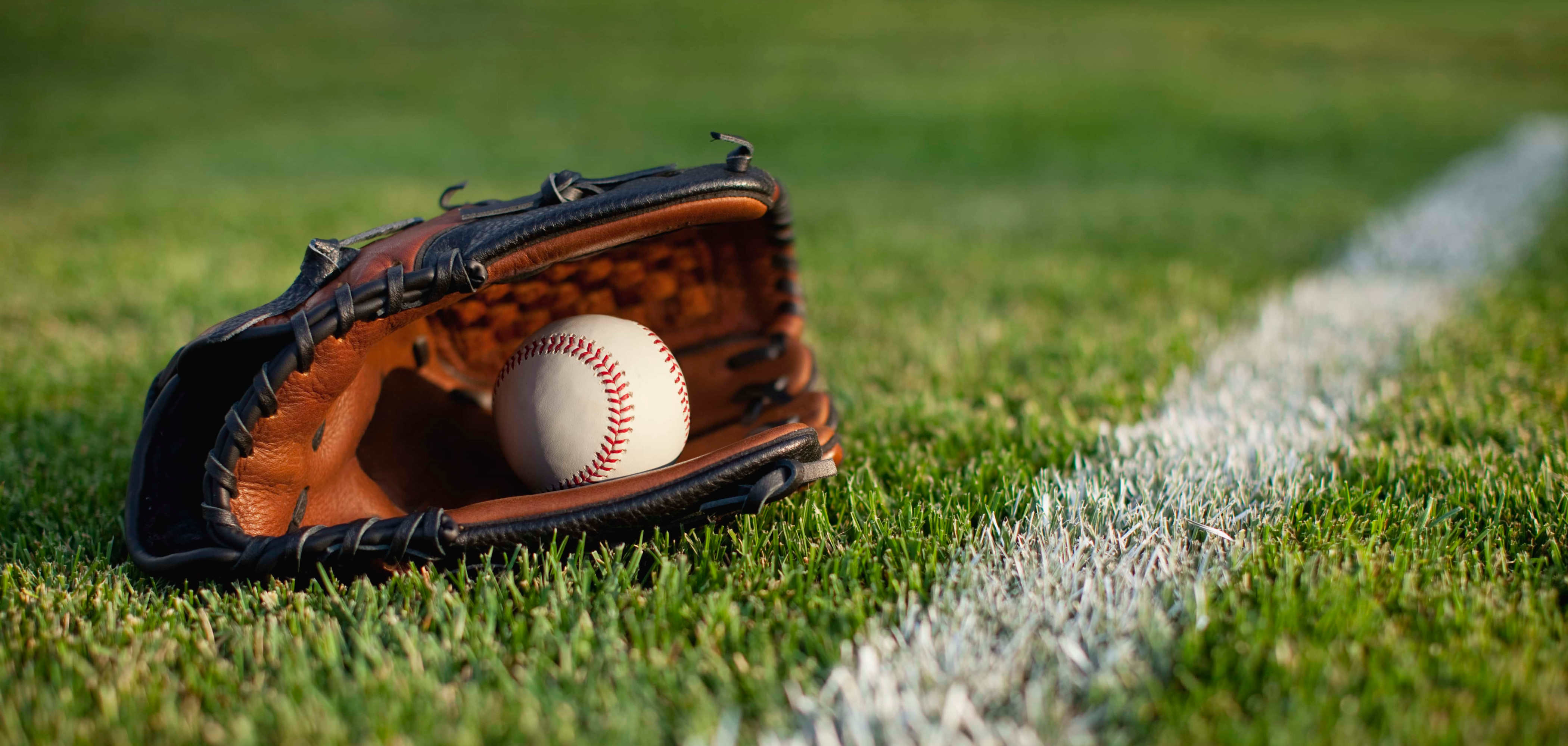 A Baseball Glove on the Field