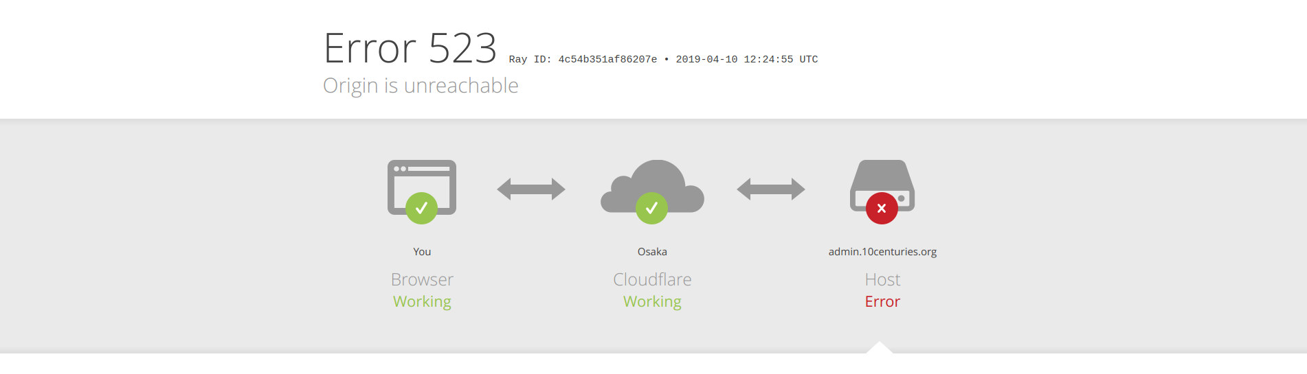 Cloudflare's Dreaded Error 523