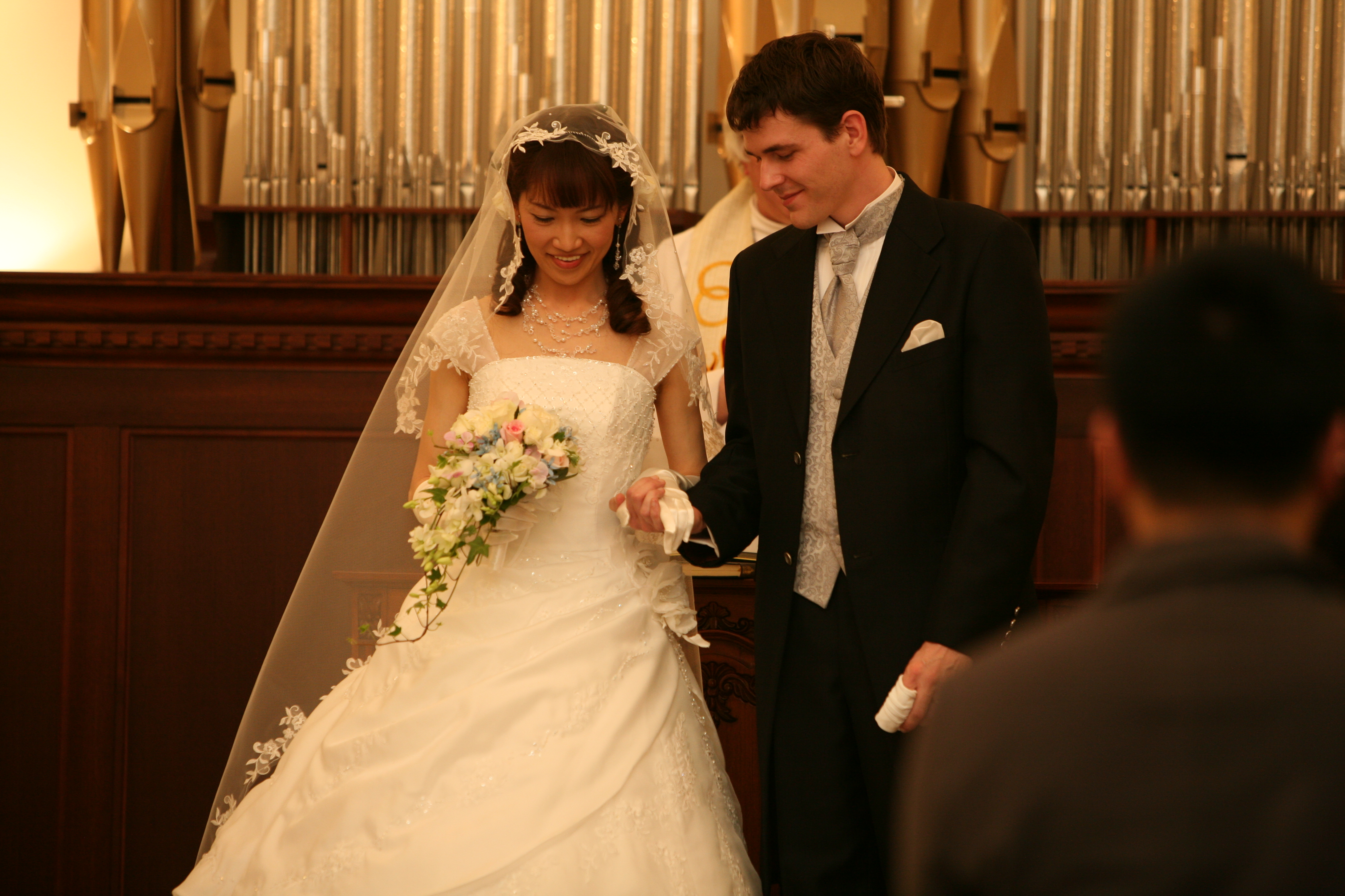 Reiko and I at the Altar