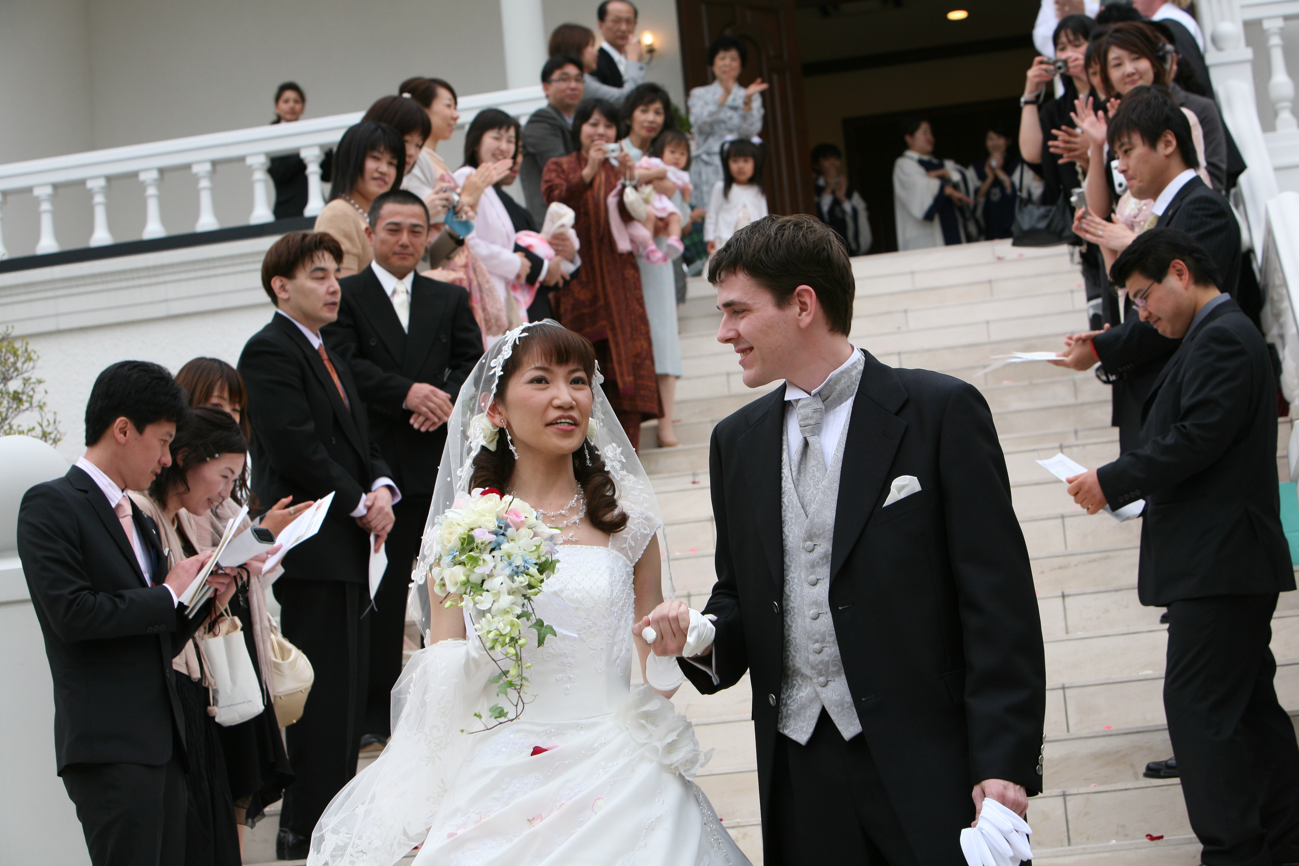 Reiko and I at the Foot of the Stairs